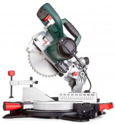 A miter saw is used to cut and install wainscoting.