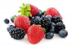 Strawberries, blueberries, and blackberries are all good sources of antioxidants.