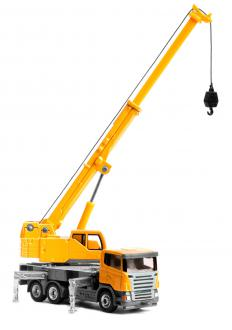 Cranes can move items horizontally, while hoists cannot.