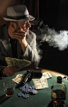 Most mobsters were involved in gambling.