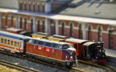 Model trains are available in a variety of sizes.