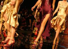 One of the main uses of diamond plate is the flooring material on fashion catwalks.