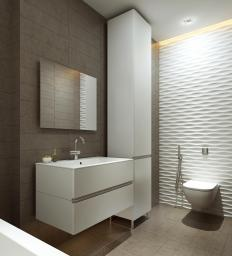 A stainless steel vanity is usually best for a bathroom with modern décor, and is also considered easy to keep clean.