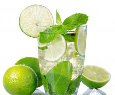 Tart lime juice can be added to a lemon drop martini for a more intense citrus flavor.