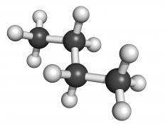 Molecular structure of butane.