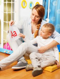 Young children commonly learn the alphabet through rote learning, which uses declarative memory.