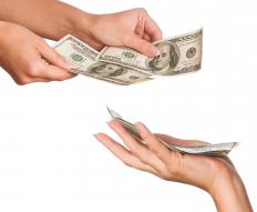 Cash disbursement is when an institution pays out money to an organization or person.