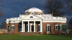 Monticello, the home of Thomas Jefferson, includes several lunette windows.