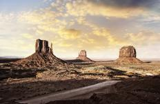 Many traditional Navajo live within the boundaries of Monument Valley Navajo Tribal Park, an area along the Arizona-Utah border than is now for its striking beauty.