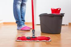 Make sure all water is mopped up and floor is completely dried before repair can be done.
