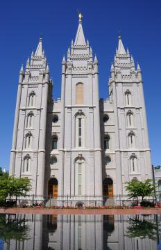 The Salt Lake Temple in Salt Lake City, Utah.