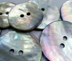 Mother of pearl buttons.