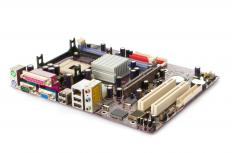 The motherboard houses the socket, which acts as a seat or securing mechanism for the CPU.