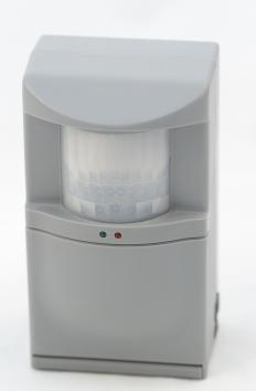 The microwave motion detector typically is a single unit device that emits a pulse of microwave energy and then detects its reflection.