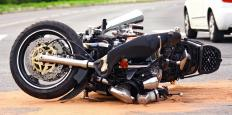A motorcycle accident can cause friction burn.