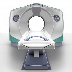 An MRI machine might be used as a guide in a focused ultrasound procedure.