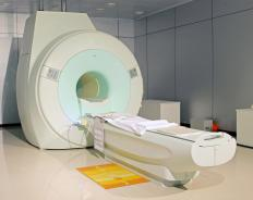 Faraday shields are used in MRI rooms to prevent stray radio waves from entering the room and impacting the imaging process.