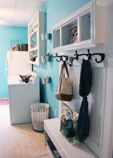 Laundry rooms may be painted blue to have a calming effect.
