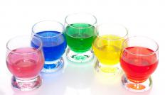 Food coloring added to vinegar is used to decorate Easter eggs.