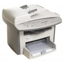 Multifunction laser printer that can also scan, copy and fax.