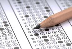 The GRE has many multiple-choice questions.