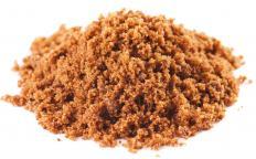 Brown sugar, which is used in making kruidkoek.