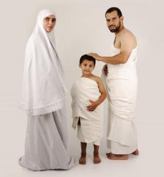 All pilgrims who make the Hajj wear simple white garments.