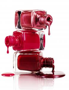 Certain brands of nail polish contain strengtheners to make the nails harder.