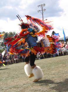 Native Americans celebrate their heritage with regional gatherings.