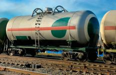 Tank cars that are used to transport liquefied natural gas are one kind of freight railroad car.