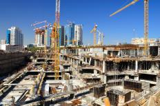 The construction industry often uses bonds to insure against any damages or problems encountered in various construction projects.