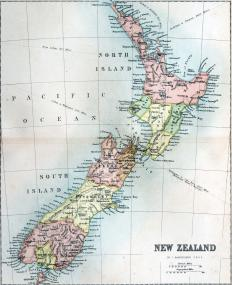 The two islands of New Zealand comprise the 7% of Zealandia that is above water.