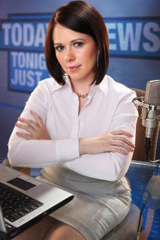 A news presenter, or anchor, may work on radio.