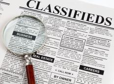 People may try to find a person to be their money mule through newspaper classifieds.