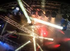Many nightclubs have lights and laser effects for the dancers.