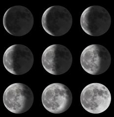The phases of the Moon form the basis of a lunar calendar.