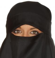 A Muslim woman wearing a niqab.
