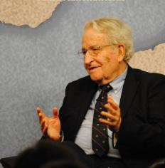 Massachusetts Institute of Technology linguist Noam Chomsky contributed to the theory of universal grammar.