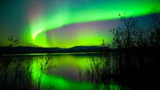 The northern lights can be one of the attractions of an eco tour of Alaska.