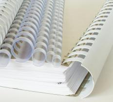 Comb binding is is a relatively common binding practice.