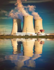 A radiochemist may be tasked with controlling and containing nuclear waste at a nuclear power plant.