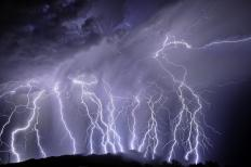 Lightning strikes can cause a power surge.