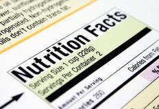 Nutrition labels display the daily values for many different kinds of vitamins and nutrients.