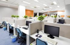 Office work spaces often use local area networks to enhance workflow.