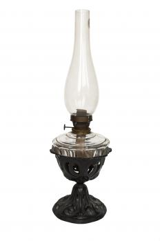 An oil lamp.