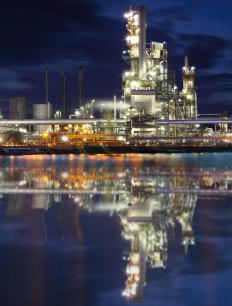 Oil refineries use a coker unit to recover valuable elements.