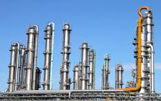 Oil refineries use fractional distillation to extract gasoline products.