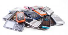 Old cell phones are a type of e-waste.