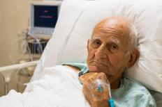 Elderly with osmotic diarrhea might require intravenous fluids.