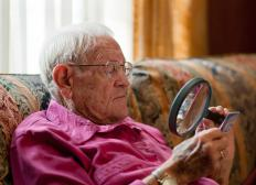A magnifying glass may be very helpful for individuals who suffer with vision issues.